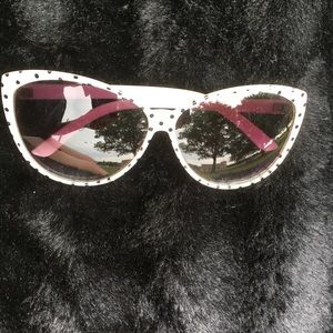 Cream and Black Polka Dot Sunglasses